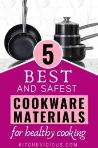 best and safest cookware materials for health, healthy cookware set products