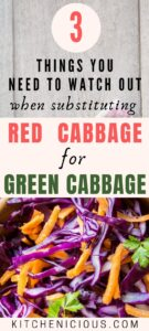 red cabbage vs green cabbage, are red cabbage and green cabbage interchangeable